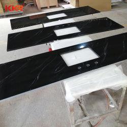 Mármore personalizados Textura de superfície sólida de banho de pedra vaidade tops para projectos