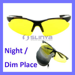 Yellow universale Cycling Sunglasses Safety Eyewear Goggle per Bicycle Riding Apre-Air Activities