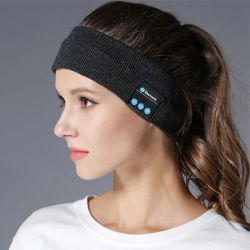 Música banda Bluetooth Knits dormindo Headwear auscultadores desporto orador o sono do fone de ouvido Bluetooth