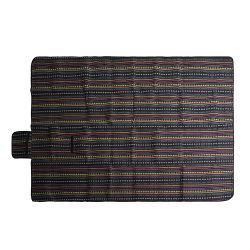 بطانية نزهة من قماش الأكريليك المصنوع من Fleece مطبوع عليها بالحفر