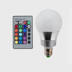 E27 RGB LED 10W Lâmpada Globo 90-260V para a festa de Natal Barra KTV Hotel Lamp + 24 Teclas controlador remoto de infravermelhos