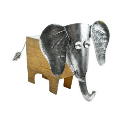 Estátua do elefante artesanal da Plantadeira Piscina Exterior do potenciômetro de Metal Flores Plantas