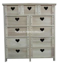 Nuevo diseño de embalaje Vintage europeo antiguo armario de madera