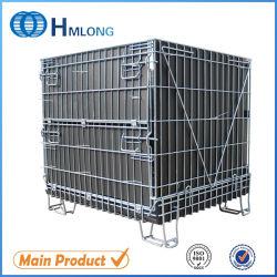 Container van de Kooi/van de Opslag van het Netwerk van de Draad van het staal de Opvouwbare voor het Rek van de Pallet