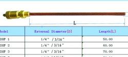 """Raccord de tube en cuivre de réfrigération en laiton vanne de charge (1/4""""x90mm)"""