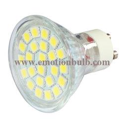 24pcs 5050SMD cuvette en verre avec couvercle 3W Lampe LED GU10 Spot Light (EM-GU10-S24E)