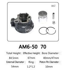 Yamaha AM6용 고품질 오토바이 부품 실린더 블록 키트(50) AM6(70)