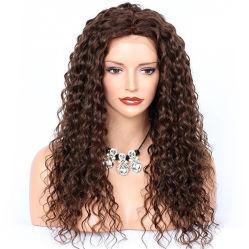 Los Top 100% Remy la peluca de cabello rizado italiano Yaki cabello humano pleno encaje peluca