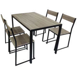 Metal moderno de madera muebles de la pierna 4 Sillas de comedor Inicio mesa de restaurante