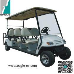 Auto van het Golf van acht Zetels de Elektrische met inbegrip van de Zetels van de Wipschakelaar van het Slepen