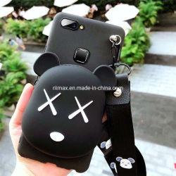iPhone 11 7/8용 실리콘 케이스 지갑 코인 지갑 커버 플러스 XR X Zipper Wallet Cartoon 전화 케이스 iPhone 11 PRO Max