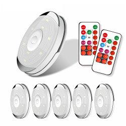 Draadloze leiden van de Sensor van de Aanraking onder LEIDENE van de Keuken van het Kabinet Lichte van de Garderobe/van de Kast van de Batterij het Licht van de Puck met de Lamp van de Nacht van Dimmable van het Controlemechanisme