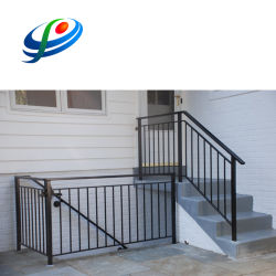 En métal poudré résidentiel de la main courante de l'escalier en aluminium de clôture