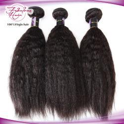 Extensión de Cabello Natural cabello humano de Malasia Virgen trama Kinky onda recta