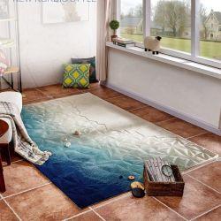 Предохранительный коврик пола и ковровых покрытий пола ковер ковров шерсти роскошь цвета моря от стены до стены дома