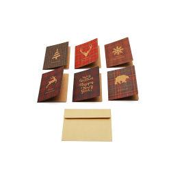 Super de Setembro de impressão personalizado papel Kraft de Natal cartão de saudação
