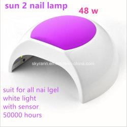 Luz blanca Fasionable muestra disponible Sun 2 UV de la luz de la belleza de uñas para curar todos los geles de uñas con CE