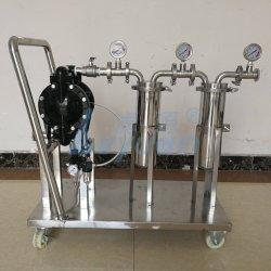 ワイン / オイル / エタノール / 液体フィルターマシンステンレススチール両面印刷バッグ / カートリッジフィルター、ダイアフラム付き ポンプカート