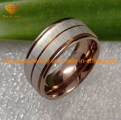Верхней Части стандартов качества ювелирных изделий и коричневого цвета серебристый корпус из нержавеющей стали ювелирные украшения из титана кольцо SSR2028 из нержавеющей стали