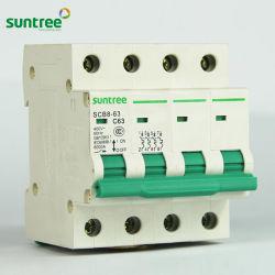 Beste Phasen-Sicherungs-Typen der Marken-Dz47-63 3 steuern Gebrauch sicheren Schalter-Schalter automatisch an