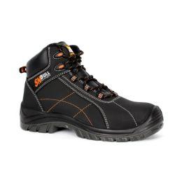 S3人の方法産業働きの靴黒のNubuck革PU+Rubber Outsoleの安全靴の/Safety履物または作業靴Sn5873