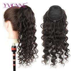 Yvonne brésilien cordon spiralé de queue de cheval Cheveux humains pour les femmes dans les extensions Clip Couleur naturelle des cheveux vierges 1 pièce