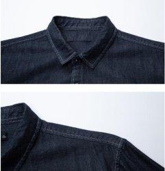 2019 Nouveaux produits Men's Shirt tissu Denim broderie Lettre