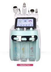 6 ossigeno facciale dell'idrogeno del getto H2O2 di cura della piccola della bolla della macchina di cura di pelle delle maniglie del fronte di pulizia della pelle della sbucciatura acqua dell'idrogeno