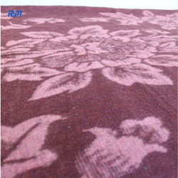 Fleur double côté de l'impression feutre de laine de coton pour le déplacement de contrat cadre