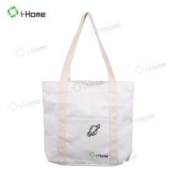 Eco personalizados reutilizáveis Saco de compras de lona de algodão promocional para senhora