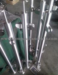 ISO9001 de moderno diseño exterior/interior de acero inoxidable barandilla de vidrio con balaustrada/barandilla de Balcón/Terraza/escalera/escaleras