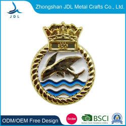 Emblème national insigne de police avec un placage or de fer Chinacustom estampillé insigne de police (320)
