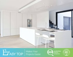 Nuevo producto de alta calidad moderno de alto brillo de la puerta laca mate/Conjunto de muebles de cocina armario despensa