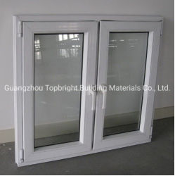 PVC/Upv Vinylflügelfenster-Fenster mit Energieeinsparung mit Zubehör