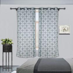 Cortinas de estilo ojal de Damasco 8 pasahilos de tela de cortina para dormitorios salón, 54x84 pulgadas; tintura hilado