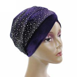 Venta caliente Headwraps estilo de moda las mujeres africanas de terciopelo con reborde turbante