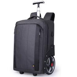 Rodas grandes rodas do carrinho de ressalto duplo rolamento sala de lazer escola viagem de negócios com mochila de Compras Pack caso saco com USB (CY5838)