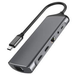 11 В 1 типа USB-C ступицу с помощью 4K Hdml RJ45 1000 Мбит/с Ethernet ноутбук базы VGA, 3 порта USB 3.0 Audio3.5mm