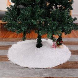 Venda por grosso de pelúcia branca personalizada Decoração de Natal da saia de árvore de Natal