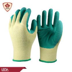 Los fabricantes de BSCI oferta elástica de látex algodón Acabado Revestimiento de la seguridad Guantes de trabajo