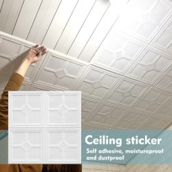 3D泡の自己接着パターン装飾的な壁の天井のステッカー