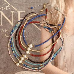 Cordones Myuki Hand-Woven Pulsera de perlas de agua dulce natural para el hombre y mujer