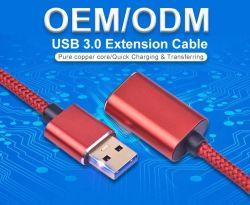 سرعة عالية 1م 2 أمبير USB 3.0 من النوع A ذكر إلى كبل مهايئ تمديد أنثى للهاتف المحمول