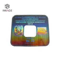 正方形の習慣は蜜蜂の巣のタンパーの証拠が付いているホログラム車の風防ガラスのステッカーをDe金属で処理した