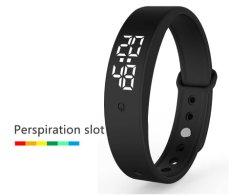 V9 مصنع بالجملة الهدايا الترويجية الالكترونية غير isex LED ساعة المعصم حزام سيليكون رياضي رباط معصم من السيليكون ذكي رقمي