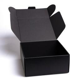 Пользовательский формат печати логотип складная черный утолщения гофрированной бумаги пылесос упаковка картон доставка Доставка картонная коробка с логотипом