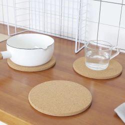 Cadeau promotionnel personnalisé ronde Cork Hot Pot Trivet Pad Cork Coaster Coasters for mug