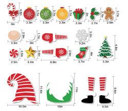 Высокое качество праздника Рождества магнит стикер украшения для холодильника