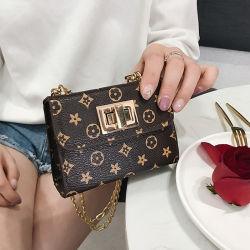 De in het groot Mini Kleine Handtas van de Beurs van het Muntstuk van de Ketting Pu van het Metaal van de Manier Gouden voor Meisjes