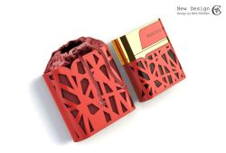 Frasco de perfume Exquistie 2020 Caixa de embalagem de perfume de couro Rígida